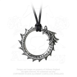Alchemy Gothic P774 Jormungand pewter pendant necklace