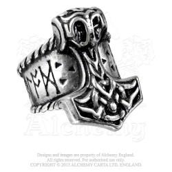 Alchemy Gothic AG-R171 Thor's Runehammer ring