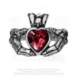 Alchemy Gothic AG-R210 Claddagh By Night ring