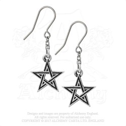 Alchemy Gothic E395 Black Star (pair)