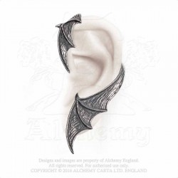 Best Seller! Alchemy Gothic E376 A Night With Goethe Stud Ear-Wrap (left)