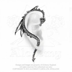Best Seller! Alchemy Gothic E274R The Dragon's Lure Stud Ear-Wrap (right)