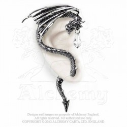 Alchemy Gothic E330 Crystal Dragon Ear-wrap
