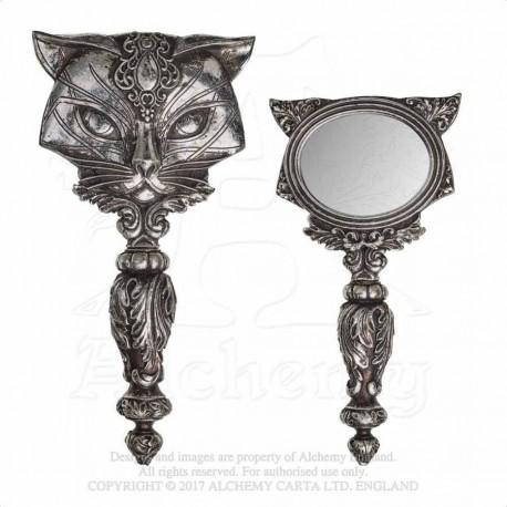 Alchemy Gothic V64 Sacred Cat Hand Mirror
