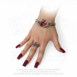 Best Seller! Alchemy Gothic A114 Claddagh By Night bangle