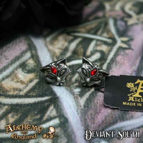 New Release! Alchemy Gothic E406 Sacred Cat Studs (pair)