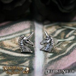Alchemy Gothic E411 Unicorn Studs (pair)