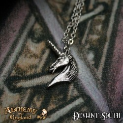 New Release! Alchemy Gothic P837 Unicorn pendant necklace