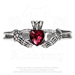 Alchemy Gothic A114 Claddagh By Night bangle