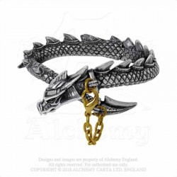 New Release! Alchemy Gothic A124 Dragon's Lure Bangle