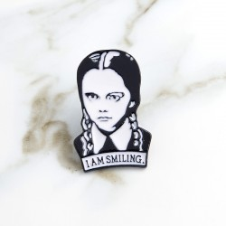 Wednesday Addams Family Enamel Pin Badge Brooch