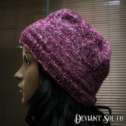 Fuschia Purple Sparkly Beanie