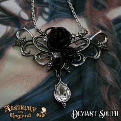 Alchemy Gothic P700 Bacchanal Rose Pewter Pendant