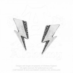 New Release! Alchemy Gothic PE8 Bowie: Flash studs (pair)