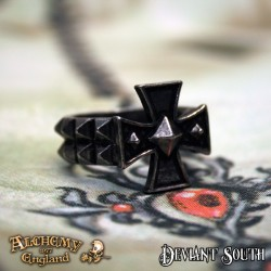 Last Chance! Alchemy Gothic AG-R196 Cross Of Iron ring
