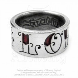 Alchemy Gothic ULR1 Love / Hate ring