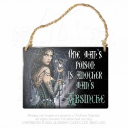 Last Chance! Alchemy Gothic AG-ALHS4 One Man's Poison... Mini Metal Sign