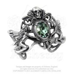 Alchemy Gothic A69 La Fleur de Baudelaire Pewter Bracelet