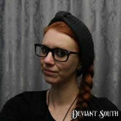 Charcoal Knit Headband