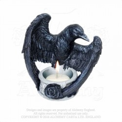 Alchemy Gothic V28 Raven's Ward T-Light Holder