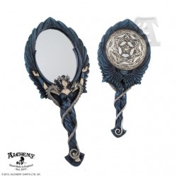 Alchemy Gothic V10 Black Angel Hand Mirror