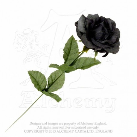 Alchemy Gothic ROSE1 Black Imitation Rose