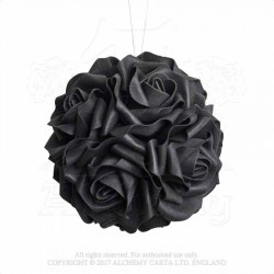 Alchemy Gothic ROSE6 Black Rose Decorative Hanging Ball