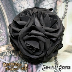 Alchemy Gothic ROSE6 Black Rose Decorative Hanging Ball