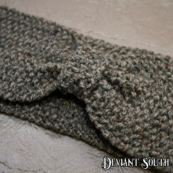 Grey Bow Knit Headband