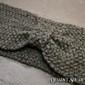 Sandstone Grey Bow Knit Headband