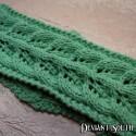 Sage Green Elven Leaves Knit Headband