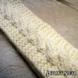 Chunky Cream Cable Knit Headband