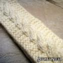 Chunky Cream Cable Knit Headband