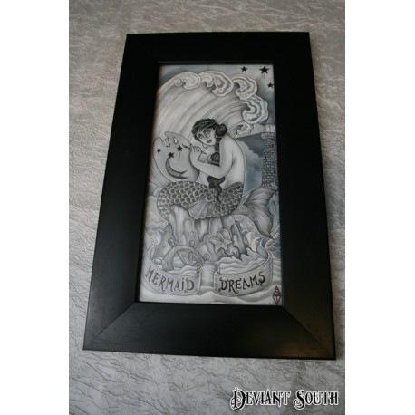 MERMAID DREAMS framed artwork by Shane Terblanche