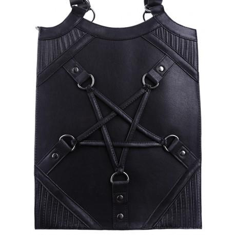 "Restyle ""PENTAGRAM BAG"" Pentagram harness handbag, occult purse"