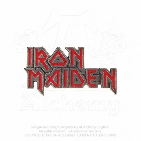 Alchemy Gothic PC505 Iron Maiden: enamelled logo pin badge brooch