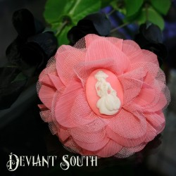 Deviant South Cameo Hair Flower - Madame Squelette Lady Skeleton