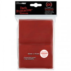 Ultra PRO Deck Protector Sleeves - Red (100)