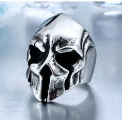 Stainless Steel Helmet Skull Ring