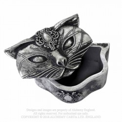 New Release! Alchemy Gothic V78 Sacred Cat Trinket Box
