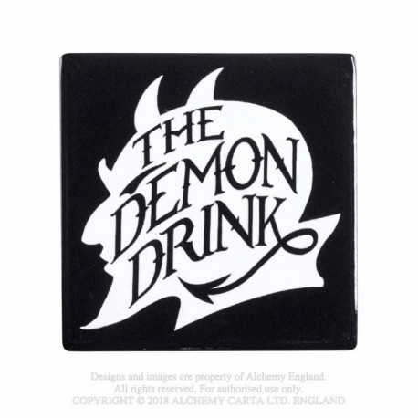 New Release! Alchemy Gothic CC1 The Demon Drink Ceramic Coaster
