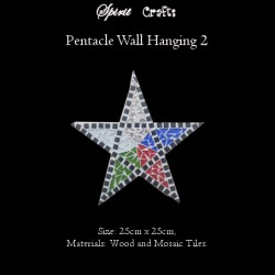Pentacle Wall Hanger Large White