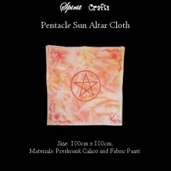 Altar Overlay Cloth Pentacle Sun