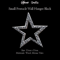 Pentacle Wall Hanger Small Black