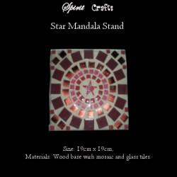 Stand Mandala Star Burgundy
