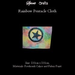 Altar Overlay Cloth Rainbow Pentagram Glitter Black