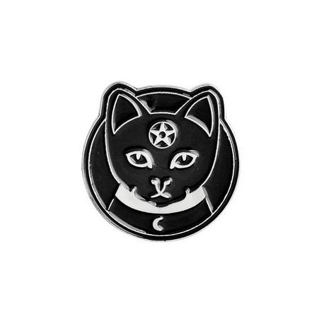 Black Cat Enamel Pin Badge