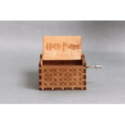 Harry Potter Hand Crank Wood Theme Music Box - Brown