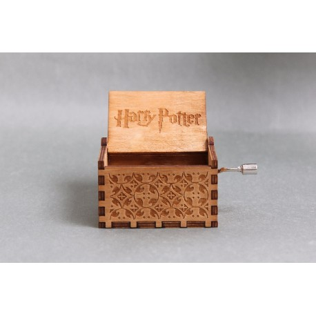 Harry Potter Hand Crank Wood Theme Music Box - Brown