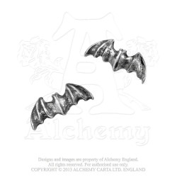 Alchemy Gothic E186 Batstuds Stud Earrings (pair)